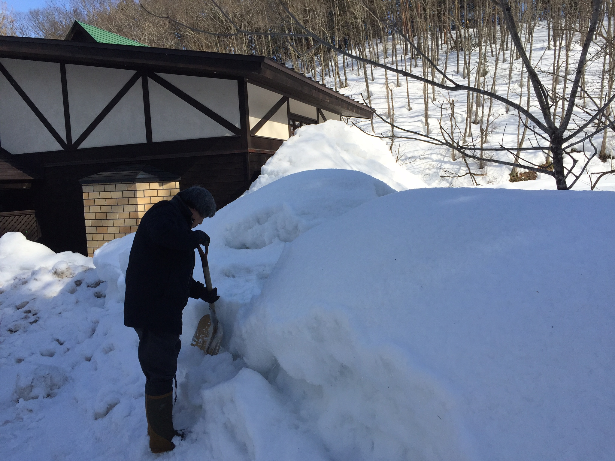 稲本代表雪かき
