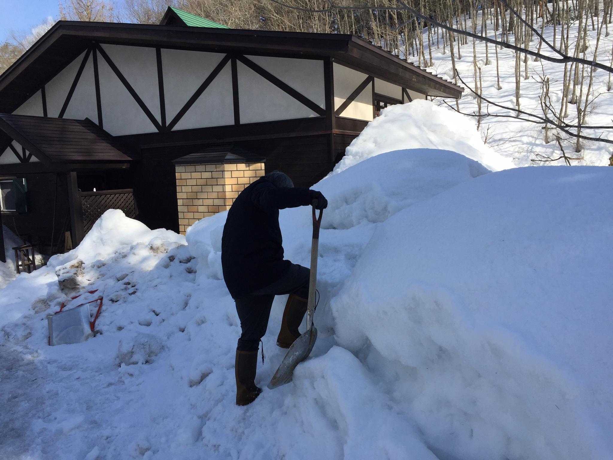 稲本代表自ら雪かき!